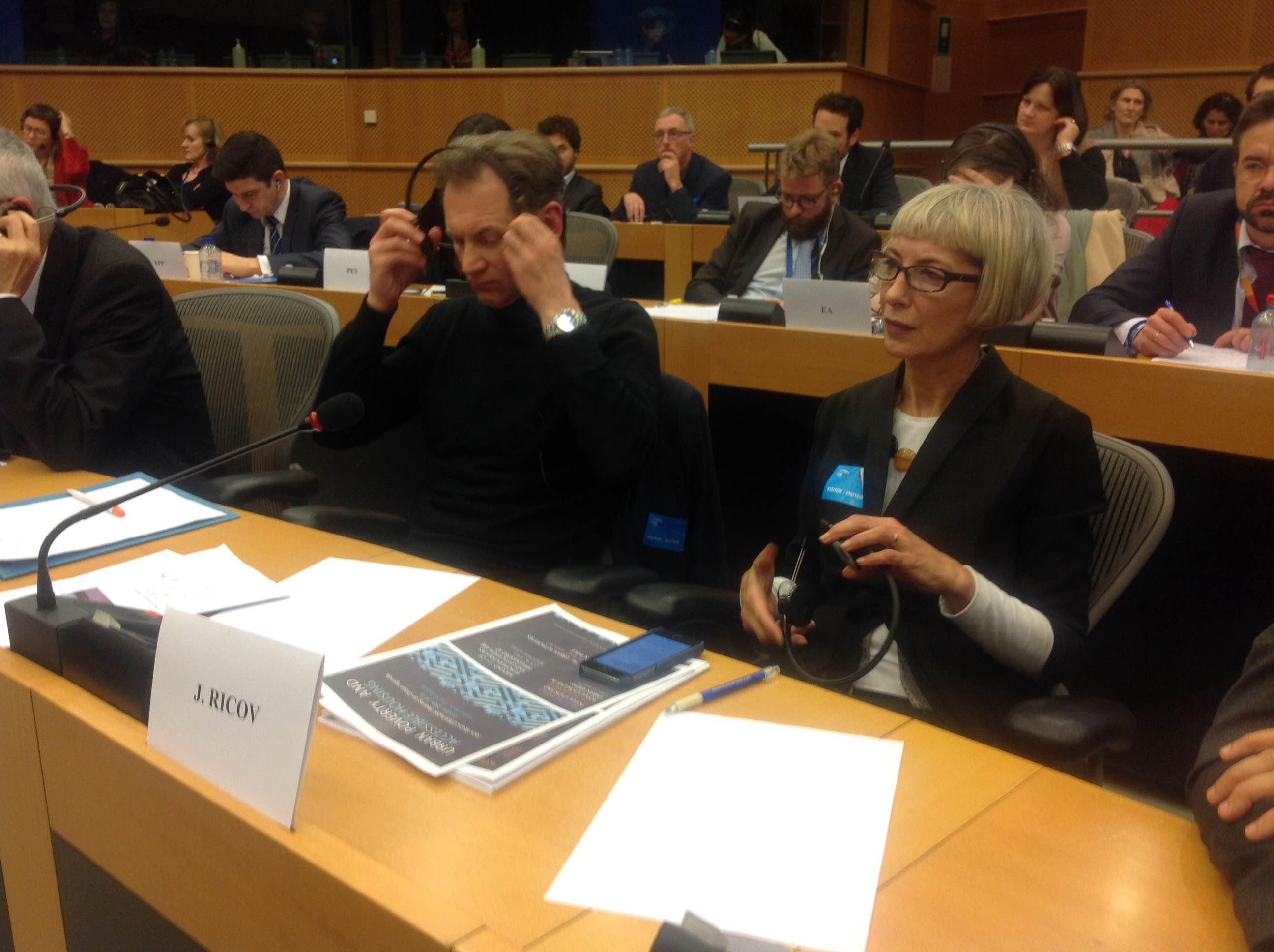 Jelena Ricov, predstavljanje u Europskom parlamentu